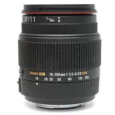 Sigma 18-200mm f3.5-6.3 II DC lens Sony A Mount