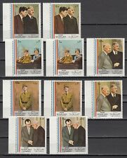 Sharjah, Mi cat. 814-823 A. Presidents De Gaulle and Kennedy issue..