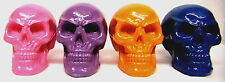 Skull Ornament Head Set Of 4 Glossy Skull Decorations New Halloween Father's Day