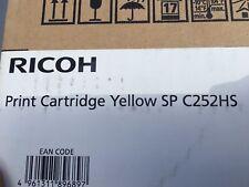 Ricoh SP-C252HS SP-C252DN SP-C252SF 407723 Genuine Yellow Toner Cartridge