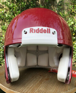 Large Riddell Speed  Football Helmet / No Facemask -  Crimson / Red