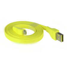 4FT Ultimate Ears UE BOOM MEGABOOM ROLL  Flat Micro USB Charge Cable NEON YELLOW