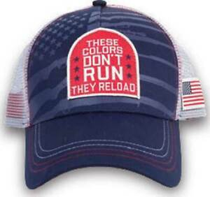 These Colors Don't Run They Reload Adjustable nra guns Mesh Hat Cap