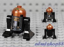 LEGO Star Wars - R2-Q5 R2-D5 Black Droid w/ Copper Dome R4-G9 10188 6211 Minifig