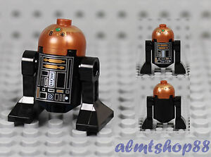 Star Wars Lego mini figure R2-Q5 Noir Astromech Droid 7958 10188