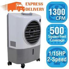 Evaporative Air Cooler Portable 2 Spd 500 Sq.ft Garage Workshop Energy Efficient