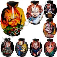 Hot Women/Men 3D Print childs play chucky Casual Hoodie Sweatshirt Pullover Tops