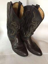 Vintage Tony Lama Mens 9 EE #8536 Cowboy Boots Snake/Lizard