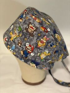 Men/Women Surgical Scrub Cap Lined Nintendo Super Mario Characters.