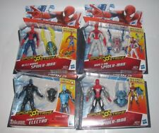 "(4) HASBRO AMAZING SPIDER-MAN 2 SPIDER STRIKE 3.75"" ACTION FIGURES NEW NIP LOT"