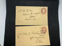 US Stamps Postal Stationary - 15 Entire Covers U10 U58 U59 U114 U231 U385 U436