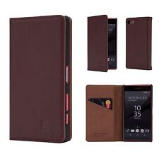 32nd Classic Series - Real Leather Book Wallet Case for Sony Xperia XZ Premium Sny.xzprem.32ndclassic-darkbrown Dark Brown