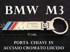 BMW M3 M Serie 3 Portachiavi Porta Chiavi CROMATO + SCATOLA KeyRing Portè clès