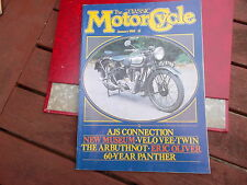 THE CLASSIC MOTORCYCLE MAG JAN 1985 AJS VELO VEE TWIN ARBUTHNOT PANTHER MUSEUM