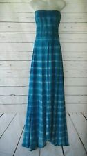 Young Fabulous & Broke Women's Blue Strapless Maxi Dress Smocked Stretch Small