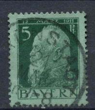 Bavaria 1911-3 SG#139c 5pf Green Type II Used #A62518