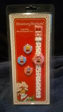 NEW STRAWBERRY SHORTCAKE DIGITAL WATCH WITH INTERCHANGEABLE COVERS FROM 2004