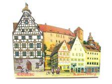 Nürnberg Altstadt Souvenir Deluxe Holz Magnet Germany Neu
