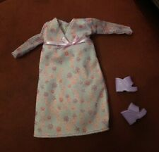 Barbie Happy Family Pregnant Midge Dress / Nightgown Replacement Shoes
