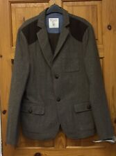 Nanny State Mens Herringbone Wool Mix Jacket Size XL