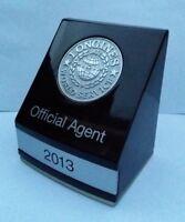 LONGINES WORLD SERVICE OFFICIAL AGENT 2013 WATCH DEALER PLAQUE