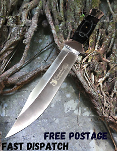 COLUMBIA Fixed Blade Knife Large Bowie Camping Hunting Survival Full Tang Knife