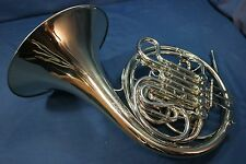 Vintage F. E. Olds Geyer Wrap Double French Horn Made in USA w/ Case, Mouthpiece