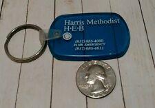 Vintage Rubber Harris Methodist HEB Keychain Fob
