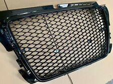 Audi RS3 Style Grill De Badged Gloss Black 8P Full Mesh S3 A3 2008-2012