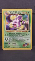 Koga's Weezing 50 Gym Challenge Uncommon Pokemon Card Near Mint