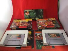 Donkey Kong Country 1 & 2 Super Nintendo SNES COMPLETE w/ Box + DK1 VHS Preview