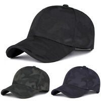 Mens Women Summer Golf Mesh Camo Hat Breathable Curved Visor Casual Baseball Cap