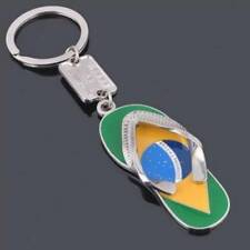 Brazil Flag Slippers Keychains Charm Car Key Chain Ring Accessories Pendant