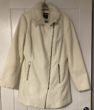 Atmosphere Off White Pea Coat Jacket. Ladies Size UK 12