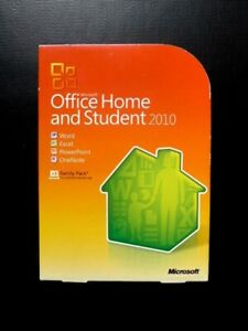 Microsoft Office 2010 Home and Student 3 USER DVD Word Excel etc (Window 7/8/10)