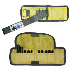 The Adjustable Cuff wrist weight - 2 lb - 10 x 0.2 lb inserts - Yellow - pair