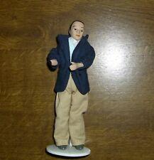 Mann  bekleidet mit einer blauen Jacke -Miniatur 1:12