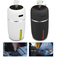 LED Portable Mini USB Car Humidifier Air Purifier Freshener Diffuser 200ML US
