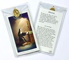 SAINT ST RITA - PRAYER CARD & MEDAL