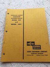 Hancock, Clark 11E4, 14E4 Scraper Operators Manual