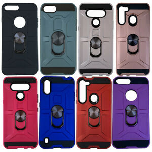 10pc Wholesale Lot of Magnetic Ring Armor Cases for iPhone, Galaxy, Android.