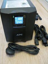 APC SMART-UPS SMC 1000i VA LCD TOWER UPS WITH NEW RBC48 BATTERY & CABLES 0652