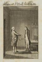 CHODOWIECKI (1726-1801). Hermann überzeugt Minister von Hochfeld; Druckgraphik 1