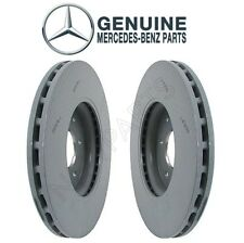 For Mercedes W208 W210 CLK320 Pair Set of Front Vented Disc Brake Rotors Genuine