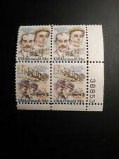 US 1978 Scott #C92a 31c Airmail Wright Bros. Plate number Block of 4 MNH P#38853