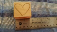 Heart Rubber Stamp By Hero Art