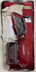HUSKY FOLDING UTILITY KNIFE Cutting Knife, Red