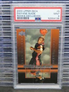 2003-04 Upper Deck Dwyane Wade Rookie Exclusives RC #5 PSA 9 MINT Heat E302