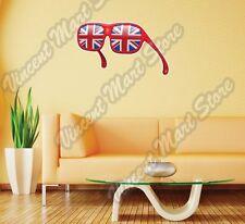 "United Kingdom Union Jack Flag Sunglass Wall Sticker Room Interior Decor 25""X18"""