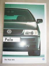 VW Polo 16v brochure Oct 1996 German text
